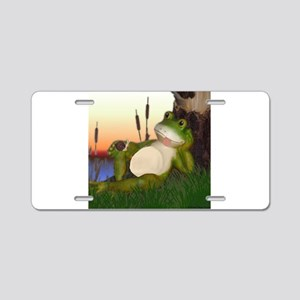 The Frog and Snail Aluminum License Plate