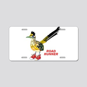 Road Runner in Sneakers Aluminum License Plate