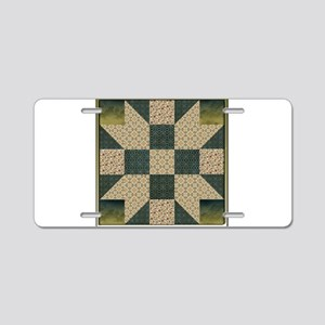 Patch Star Gold and Green c Aluminum License Plate