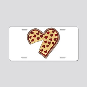 Piece of My Heart Pizza Mat Aluminum License Plate