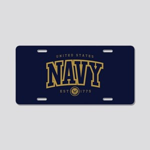 United States Navy Athletic Aluminum License Plate