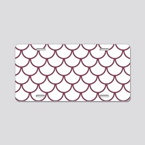 Fish Scales Pattern: Mulber Aluminum License Plate