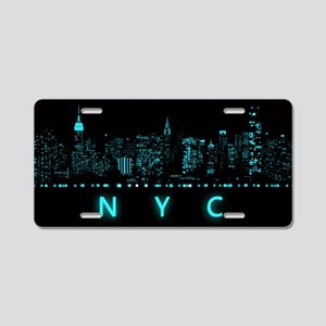 Digital Cityscape: New York Aluminum License Plate