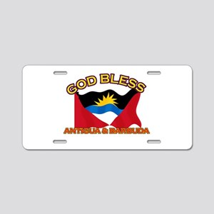 Patriotic Antigua & Barbuda designs Aluminum Licen