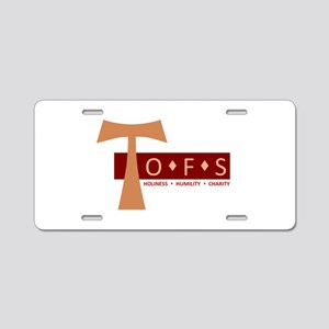 OFS Secular Franciscan Aluminum License Plate