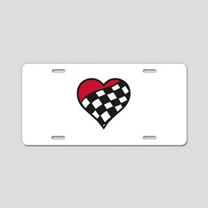 Racing Heart Aluminum License Plate