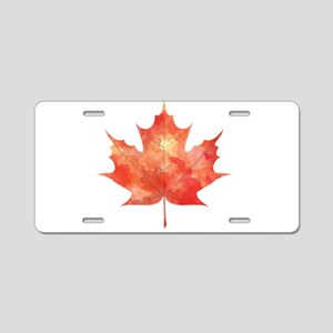 Maple Leaf Art Aluminum License Plate