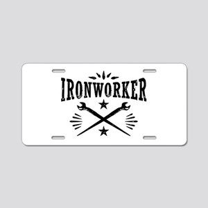 Ironworker Aluminum License Plate