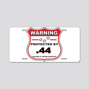 protected by 44 shield Aluminum License Plate