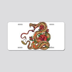 Decorated Cobra Snake with Aluminum License Plate