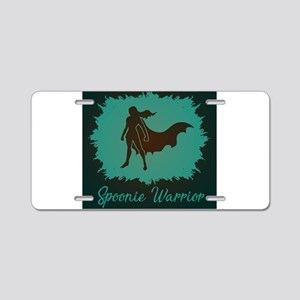 Spoonie Warrior Logo Aluminum License Plate