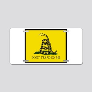 """Don't Tread On Me!"" Aluminum License Plate"