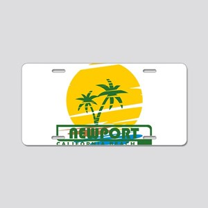 Summer newport- california Aluminum License Plate
