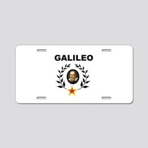 Black branch galileo mark Aluminum License Plate