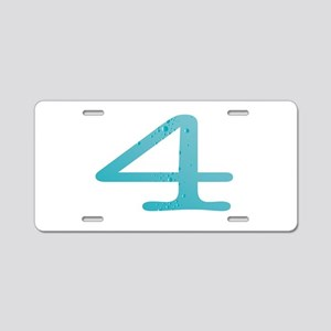 Water Numbers Aluminum License Plate