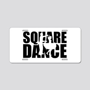 Square dance Aluminum License Plate