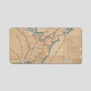 Vintage Map of British Forc Aluminum License Plate