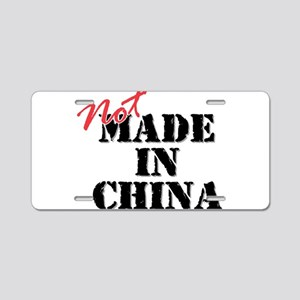 Not Made In China Aluminum License Plate