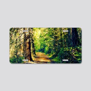 Sunlit Trail Aluminum License Plate