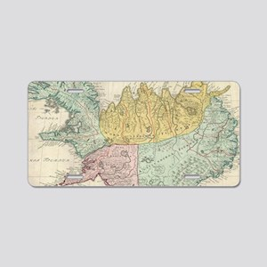 Vintage Map of Iceland (176 Aluminum License Plate