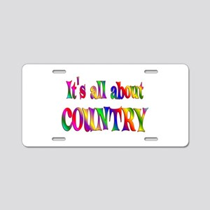 All About Country Aluminum License Plate