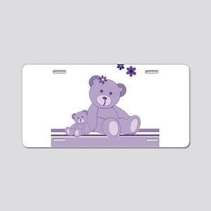 Purple Awareness Bears Aluminum License Plate