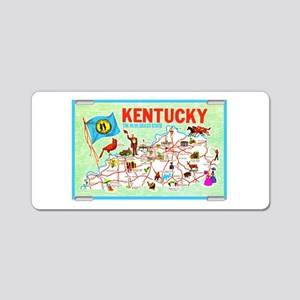 Kentucky Map Greetings Aluminum License Plate