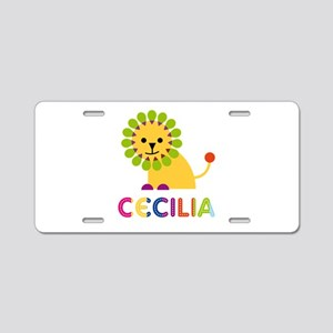 Cecilia the Lion Aluminum License Plate