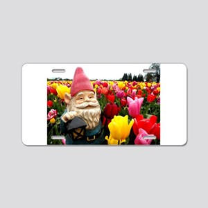 Gnome Petals Aluminum License Plate