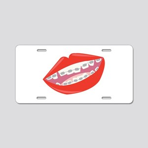 Braces Teeth Aluminum License Plate