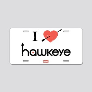 I Heart Hawkeye Red Aluminum License Plate