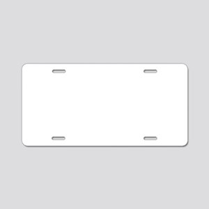 Deranged Pink Bunny Aluminum License Plate