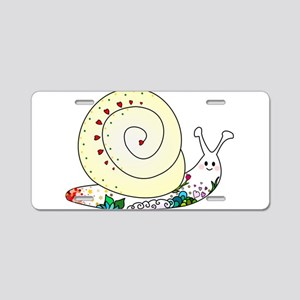 Colorful Cute Snail Aluminum License Plate