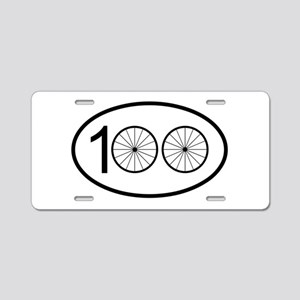 Century Ride Aluminum License Plate