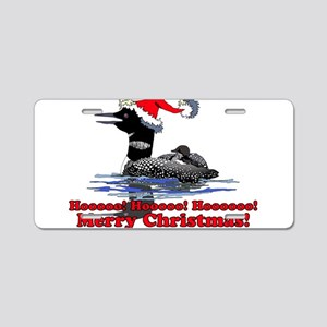 Christmas Loon Aluminum License Plate
