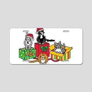 Christmas Cats Aluminum License Plate
