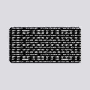 Binary Code 010 DOS Aluminum License Plate