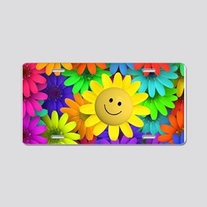 Colorful Art of Flower Aluminum License Plate
