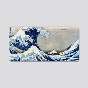 Laptop Hokusai Wave Aluminum License Plate