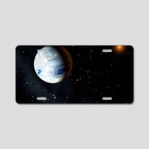 Eta Cassiopeiae planet Aluminum License Plate