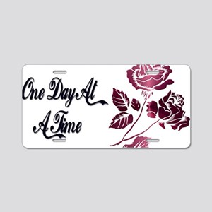One day at a time Aluminum License Plate