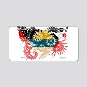 Antigua and Barbuda Flag Aluminum License Plate
