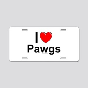 Pawgs Aluminum License Plate