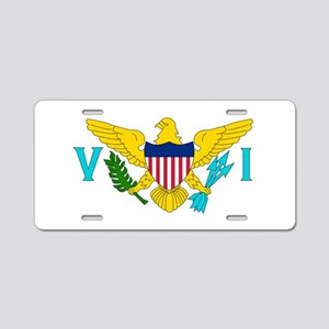 United States Virgin Islands Aluminum License Plat