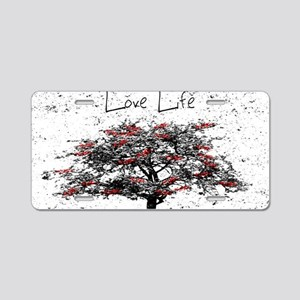 Love Life Aluminum License Plate