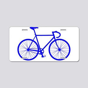 Road Bike - Blue Aluminum License Plate