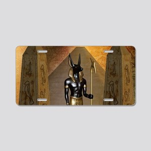 Anubis the egyptian god Aluminum License Plate