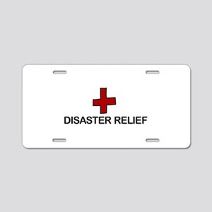 Disaster Relief Aluminum License Plate
