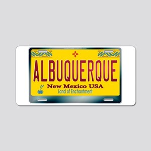 """ALBUQUERQUE"" New Mexico License Plate Aluminum Li"