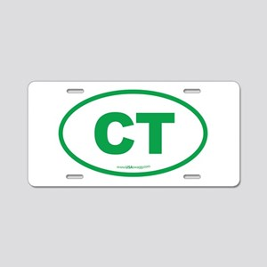 Connecticut CT Euro Oval Aluminum License Plate